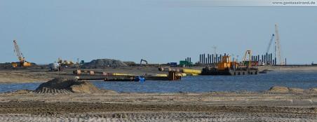 Hafenbaustelle JadeWeserPort: Blick auf das Spülfeld