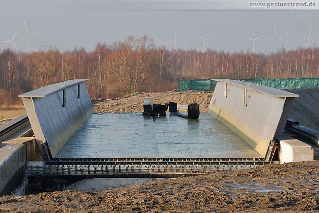Gleisanbindung JadeWeserPort: Die Eisenbahnbrücke Am Tiefen Fahrwasser
