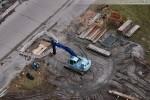 Baustelle JadeWeserPort: Kleine Baustelle neben dem Informationszentrum