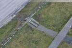 Baustelle JadeWeserPort: Die Deichtreppe die zum ehemaligen Kiosk führte