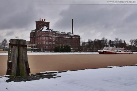 Das historisches Gebäude der Kammgarnspinnerei Wilhelmshaven (KSW)