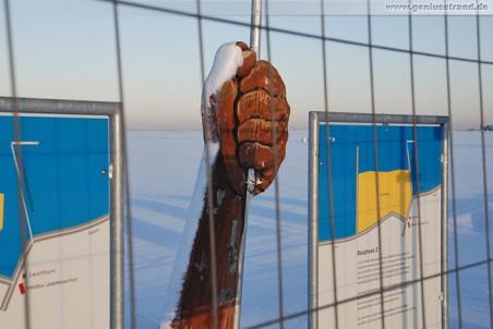 Wilhelmshaven: JadeWeserPort Baustelle im Winter 2009