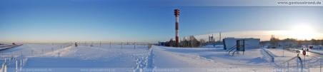 180° Panoramabild: Weißer Wintertraum an der JWP-Baustelle
