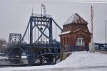 Winter in Wilhelmshaven 2010: Die Kaiser-Wilhelm-Brücke