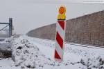 JadeWeserPort: Die JWP-Gleistrasse im Winter 2010