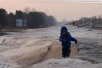 JadeWeserPort: Winterbilder die hinter dem Deich entstanden sind
