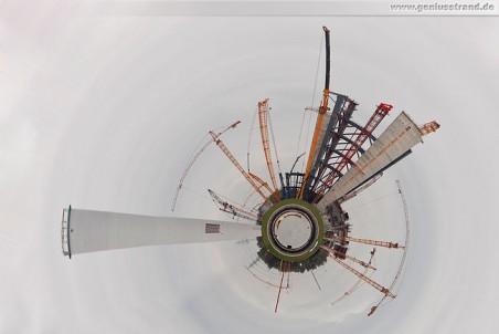 Die Kraftwerksbaustelle als Polar Panorama (Wassily Kandinsky)