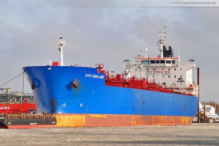 Tanker CPO England am Südwestkai