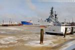 Winterliche Impressionen aus Wilhelmshaven: Der Verbindungshafen
