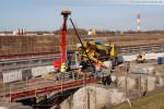 Baustelle der Kraftwerkskühlung am Neuen Rüstersieler Seedeich
