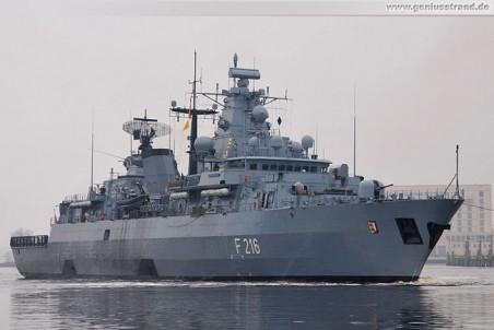 Wilhelmshaven: Fregatte Schleswig-Holstein (F 216)