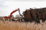 Gleisanbindung JadeWeserPort: Lärmschutzwand teilweise eingestürzt