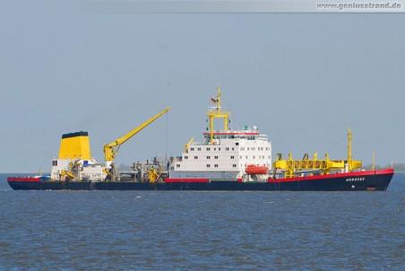 Der Saugbagger Nordsee vom WSA Wilhelmshaven