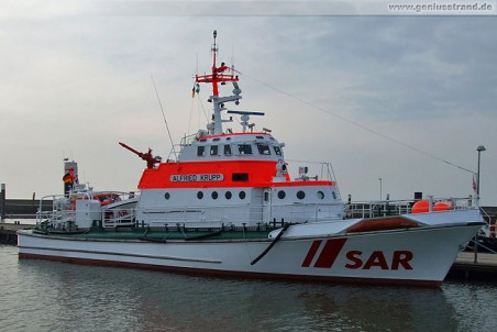 Seenotrettungskreuzer Alfried Krupp der DGzRS im Nassauhafen
