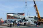 Marinemuseum: Marinejagdbomber F-104 G vom Sockel gehoben