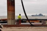 Baustelle JadeWeserPort in Wilhelmshaven