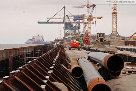 Mai 2010 - Auf der Baustelle JadeWeserPort