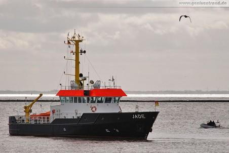 Das Peilschiff Jade vom WSA Wilhelmshaven
