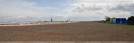 JadeWeserPort Baustelle im Mai 2010