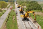 Industriestammgleis Nord: Betonkabelkanäle werden eingebaut