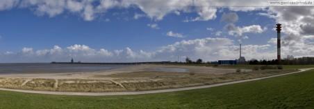 Wilhelmshaven: Panorama vom Geniusstrand der auch Geniusbank genannt wird