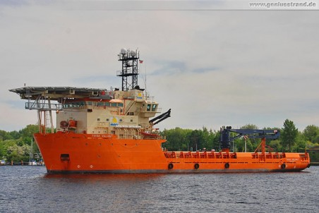 Platform Supply Vessel (PSV) Toisa Valiant - Ziel Windpark BARD Offshore 1