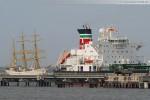 Die Gorch Fock läuft in Wilhelmshaven ein