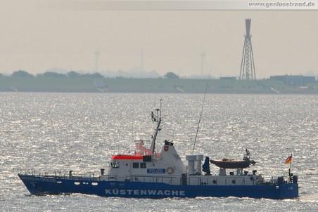 Küstenwache W 1 im Jadefahrwasser