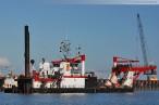 Fotos JadeWeserPort Hafenbaustelle Wilhelmshaven