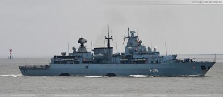 Fregatte Brandenburg (F 215) - Einsatz- und Ausbildungsverband 2010 (EAV 2010) zurück in Wilhelmshaven