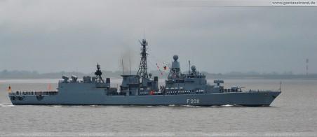 Fregatte Niedersachsen (F 208) - Einsatz- und Ausbildungsverband 2010 (EAV 2010) zurück in Wilhelmshaven