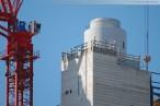 GDF Suez Kraftwerksbaustelle: Schienen für die Stahlblechverkleidung