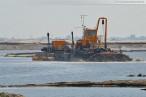 Der westliche Bereich der JadeWeserPort Baustelle