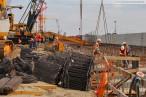 JadeWeserPort: Bauarbeiten an der Hauptkaje