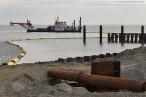 Eindrücke von der Baustelle JadeWeserPort in Wilhelmshaven
