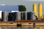 Die HDPE-Rohre werden zu 178 Meter langen Teilstücken verschweißt