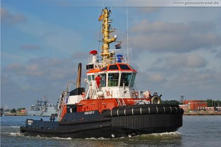 Hafenschlepper Bugsier 9 in Wilhelmshaven