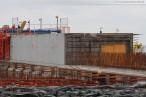 JadeWeserPort: Bilder von den Bauarbeiten an der Hauptkaje