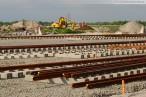 Gleisbaustelle der 16-gleisigen Vorstellgruppe am JadeWeserPort
