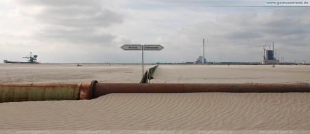 JadeWeserPort: Abgrenzung zwischen Terminal und Hafengroden
