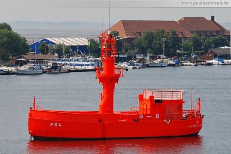 Unbemanntes Feuerschiff FS 4 (G-B) im Großen Hafen