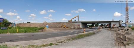 Autobahnanbindung JadeWeserPort: Unterführung der Flutstraße - Blick aus Richtung Süden