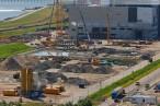 Eindrücke vom Kraftwerksneubau GDF Suez im Rüstersieler Groden