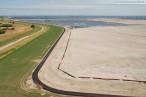 Wilhelmshaven: JadeWeserPort Baustelle Juli 2010