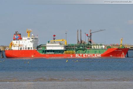 Tanker Gas Lombok löscht 4.934 t Äthylen