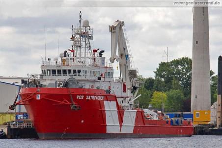 Subsea Support Vessel Vos Satisfaction am Jade-Dienst-Kai