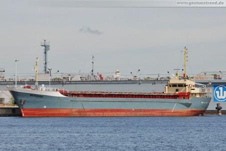 Das Frachschiff Meridian am Hannoverkai