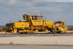 Gleisbauarbeiten an der Vorstellgruppe des JadeWeserPort