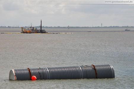 GDF Suez Kraftwerkskühlung: Kühlwasserleitung zu Testzwecken in Jade