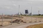 JadeWeserPort: Der nördliche Bereich der Hafenbaustelle